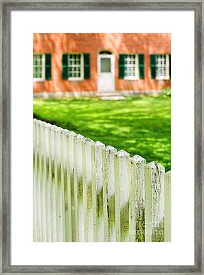 Historic Home Framed Print by HD Connelly