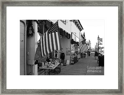 Historic Niles District In California Near Fremont . Main Street . Niles Boulevard . 7d10692 . Bw Framed Print by Wingsdomain Art and Photography