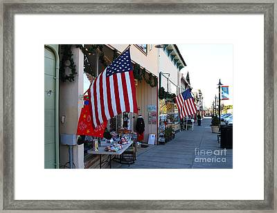 Historic Niles District In California Near Fremont . Main Street . Niles Boulevard . 7d10692 Framed Print by Wingsdomain Art and Photography