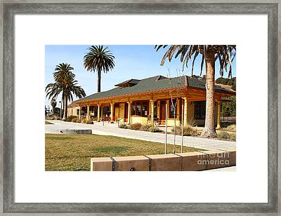 Historic Niles District In California Near Fremont . Niles Depot Museum And Niles Town Plaza.7d10717 Framed Print by Wingsdomain Art and Photography