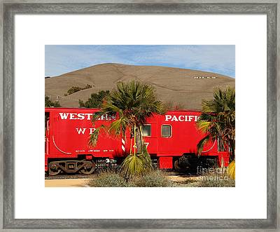 Historic Niles District In California Near Fremont . Western Pacific Caboose Train . 7d10718 Framed Print by Wingsdomain Art and Photography