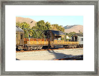 Historic Niles Trains In California . Old Niles Canyon Train . 7d10840 Framed Print by Wingsdomain Art and Photography