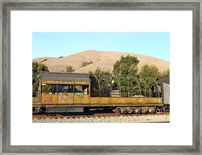 Historic Niles Trains In California . Old Niles Canyon Train . 7d10845 Framed Print by Wingsdomain Art and Photography