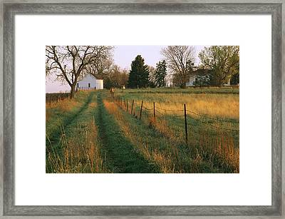 Historic Stevens Creek Farm Framed Print by Joel Sartore