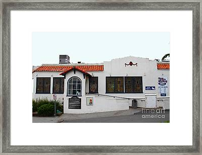 Historical Moss Beach Distillery At Half Moon Bay . 7d8172 Framed Print by Wingsdomain Art and Photography
