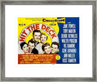Hit The Deck, Ann Miller, Tony Martin Framed Print by Everett