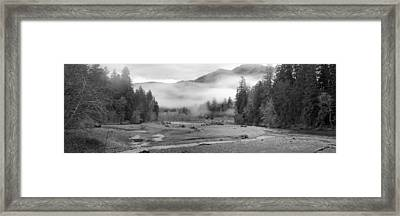 Ho River Winding Through Ho Rain Forest Framed Print by Twenty Two North Photography