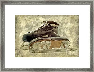 Hockey Boots Framed Print by Dariusz Gudowicz