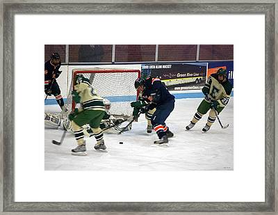 Hockey One On Four Framed Print by Thomas Woolworth