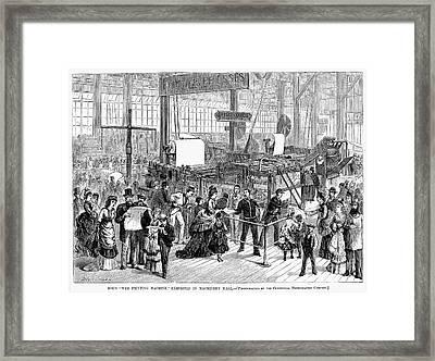 Hoe Web Printing Press Framed Print by Granger