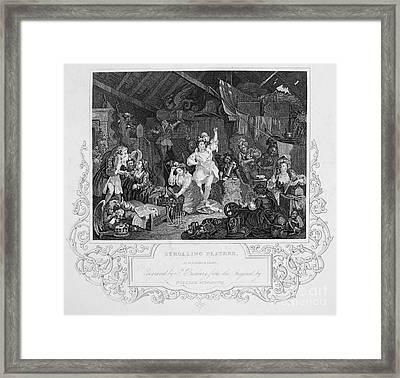 Hogarth: Actresses Framed Print by Granger
