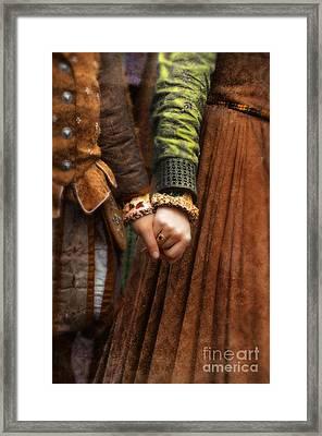 Holding Hands Framed Print by Jill Battaglia