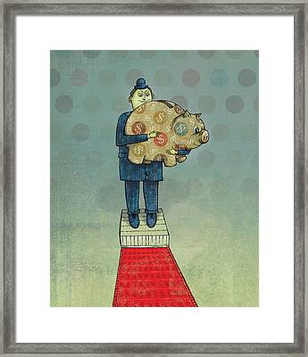 Holding Tight Framed Print by Dennis Wunsch