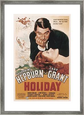Holiday, Cary Grant, Katharine Hepburn Framed Print by Everett