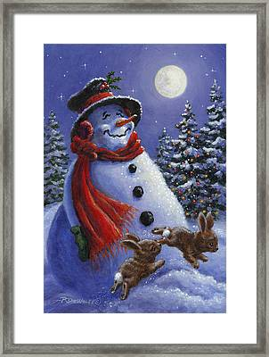 Holiday Magic Framed Print by Richard De Wolfe