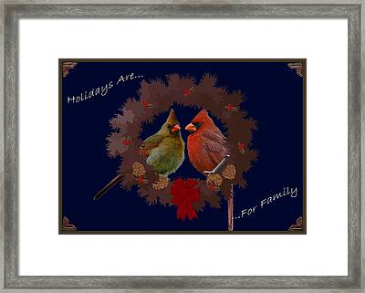 Holidays Are For Family Framed Print by DigiArt Diaries by Vicky B Fuller