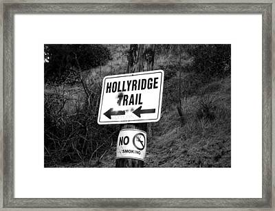 Hollyridge Trail Framed Print by Jera Sky