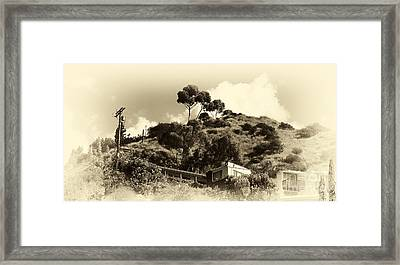 Hollywood Hills Framed Print by John Rizzuto