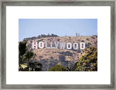 Hollywood Sign Photo Framed Print by Paul Velgos