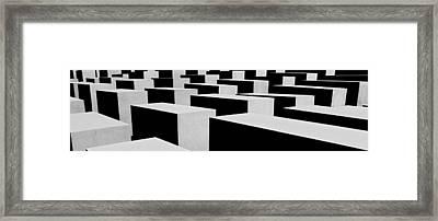 Holocaust Memorial - Berlin Framed Print by Juergen Weiss