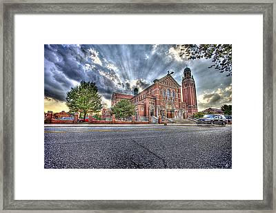 Holy Redeemer Framed Print by Nicholas  Grunas