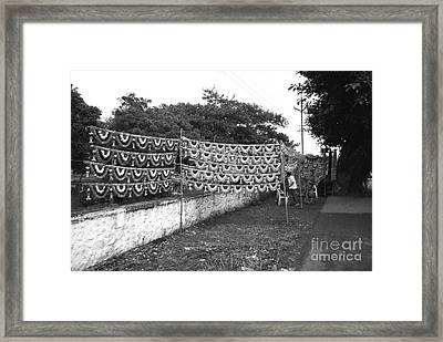 Home Decoration Garlands In India Framed Print by Sumit Mehndiratta