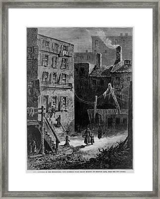 Homeless Poor In Donovan Lane Framed Print by Everett