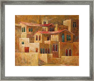 Homes Framed Print by Adeeb Atwan
