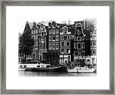 Homes Of Amsterdam Framed Print by Leslie Leda