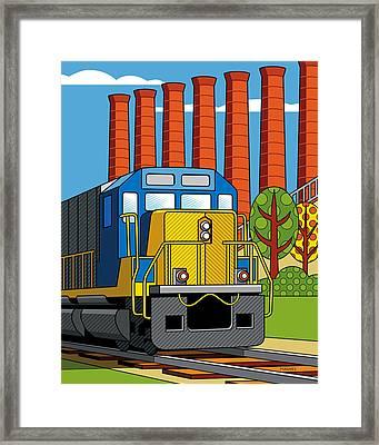 Homestead Stacks Framed Print by Ron Magnes