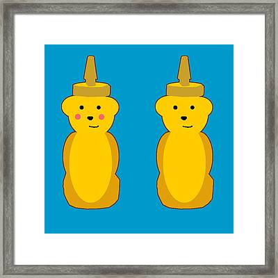 Honey Bears Framed Print by Jera Sky