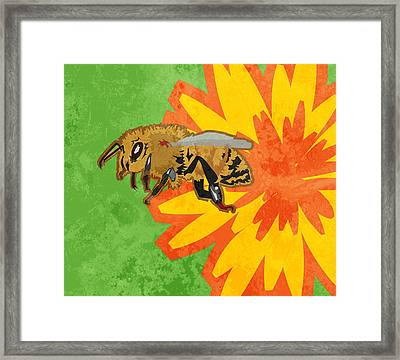 Honey Bee Framed Print by Mary Ogle