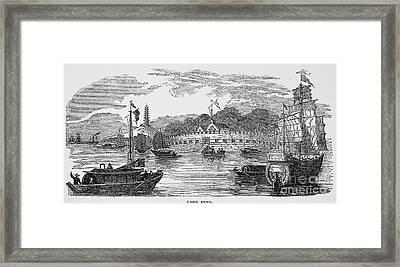Hong Kong: Harbor, 1842 Framed Print by Granger