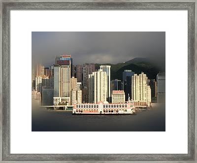 Hong Kong Framed Print featuring the photograph Hong Kong Waterline by Roberto Alamino