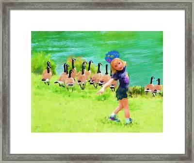 Honker Ballet Princess Framed Print by Cindy Wright