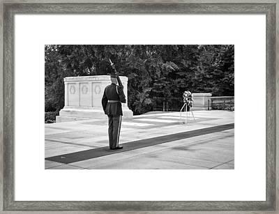 Honorable Duty Framed Print by Frank Mari