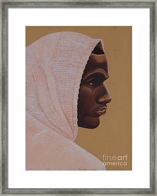 Hood Boy Framed Print by Kaaria Mucherera