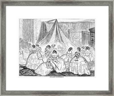 Hoopskirts, 1858 Framed Print by Granger