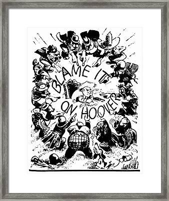 Hoover Cartoon, 1931 Framed Print by Granger