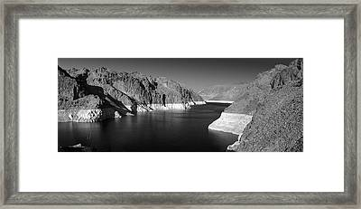 Hoover Dam Reservoir - Architecture On A Grand Scale Framed Print by Christine Till
