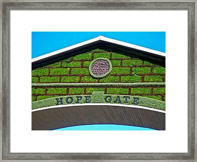 Hope Gate - Quebec City Framed Print by Juergen Weiss