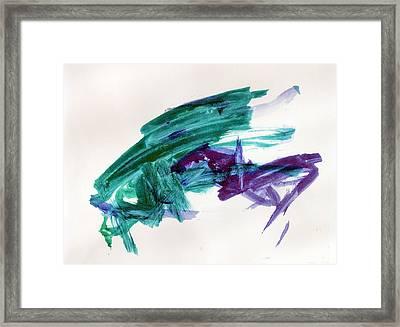Hopper Collision Framed Print by Hanne Lore Koehler