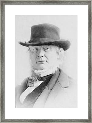 Horace Greeley 1811-1872 American Framed Print by Everett
