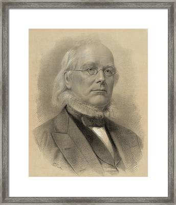 Horace Greeley 1811-1872, Ca. 1872 Framed Print by Everett