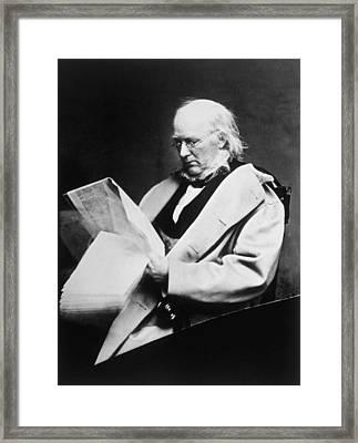 Horace Greeley 1811-1872, Photograph Framed Print by Everett