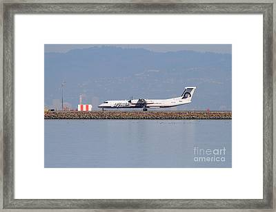 Horizon Airlines Jet Airplane At San Francisco International Airport Sfo . 7d11988 Framed Print by Wingsdomain Art and Photography