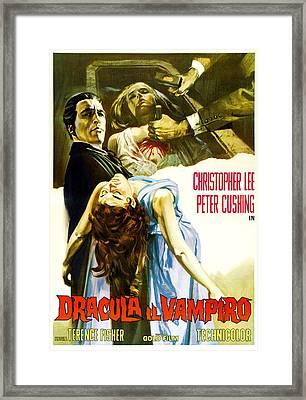 Horror Of Dracula Aka Dracula Framed Print by Everett