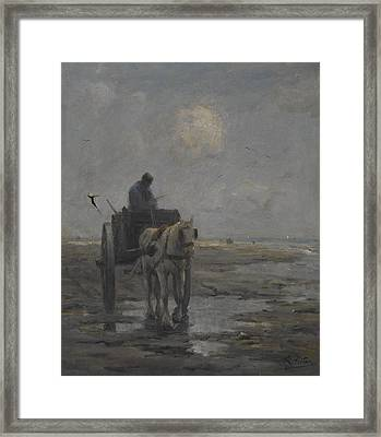 Horse And Cart Framed Print by Evert Pieters
