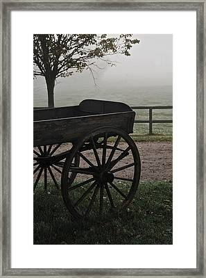 Horse Drawn In The Mist Framed Print by Odd Jeppesen