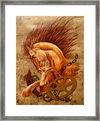 Horse Jewels Framed Print by Lena Day